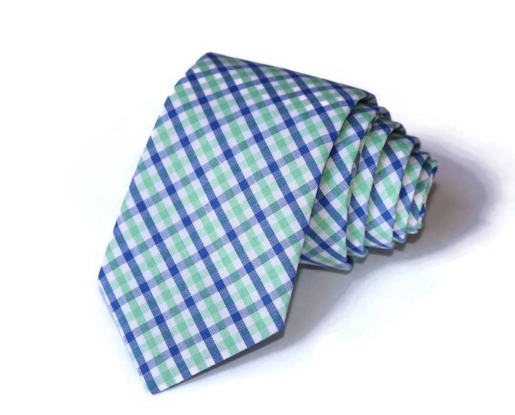 Jade & Royal Tattersall Necktie - Youth