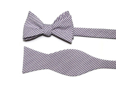 Purple Seersucker Cummerbund & Bow Tie
