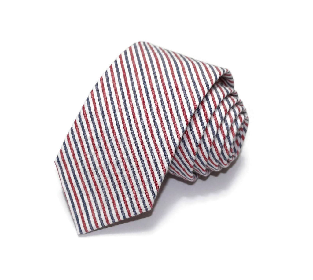 Americana Seersucker Necktie - Youth