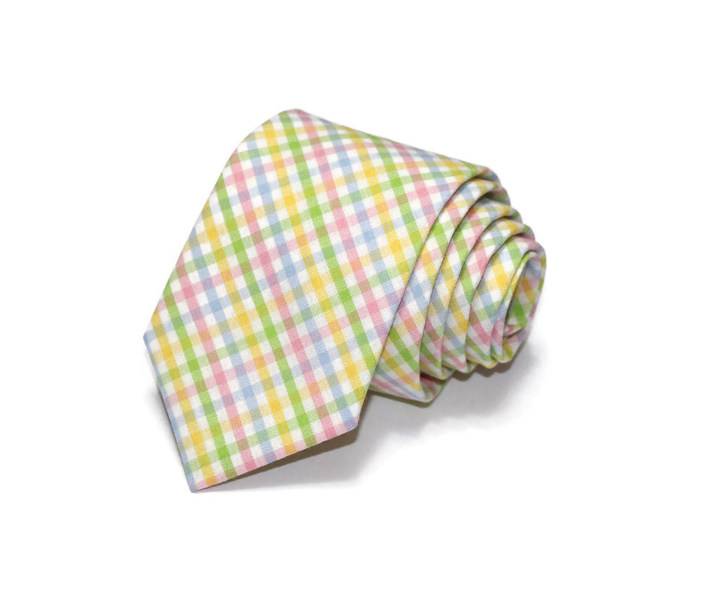 Easter Tattersall Necktie - Youth