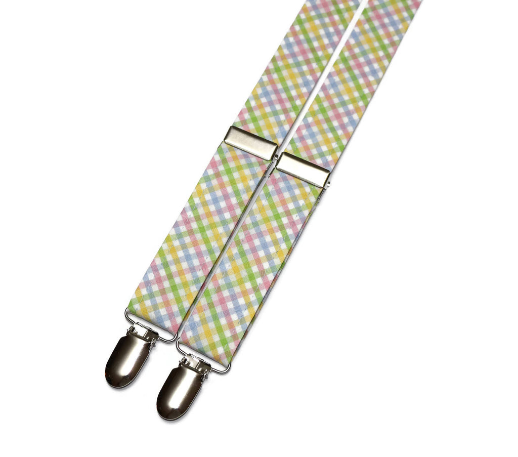 Easter Tattersall Suspenders - Boys