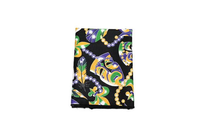Mardi Gras Mask & Beads Pocket Square (Mens)
