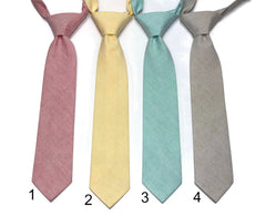 Chambray Neckties - Boys Pre-Tied
