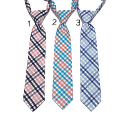 Tattersall Check Neckties- Boys Pre-Tied