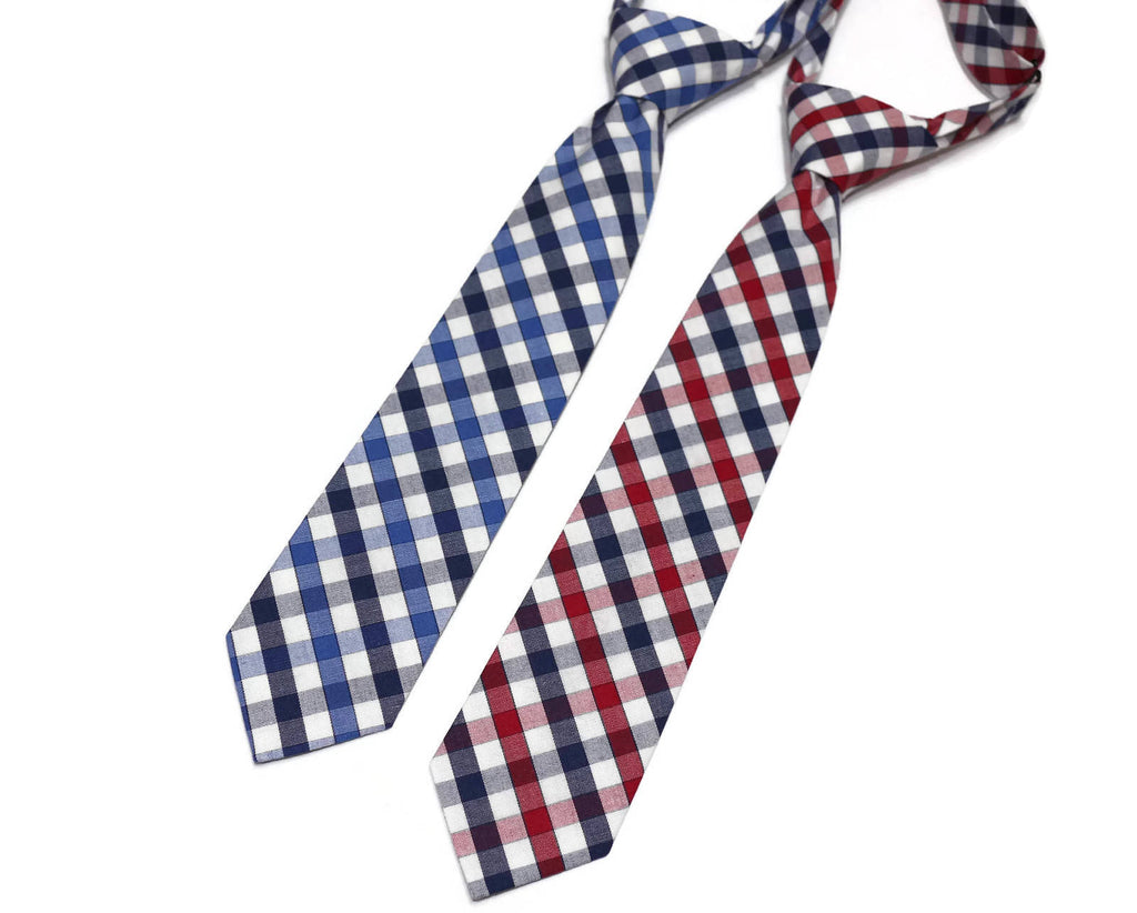 Plaid Check Neckties - Boys Pre-Tied