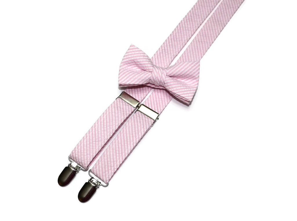 26600b2c08e0 Boys Pink Seersucker Suspenders – HoBo Ties