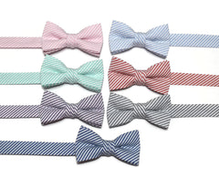 Seersucker Bow Tie - Boys