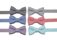 Seersucker Check Bow Tie - Boys