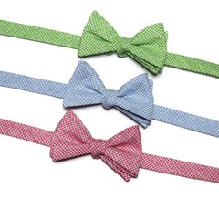 Linen Check Bow Ties