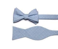 Light Blue Glen Plaid Cummerbund & Bow Tie