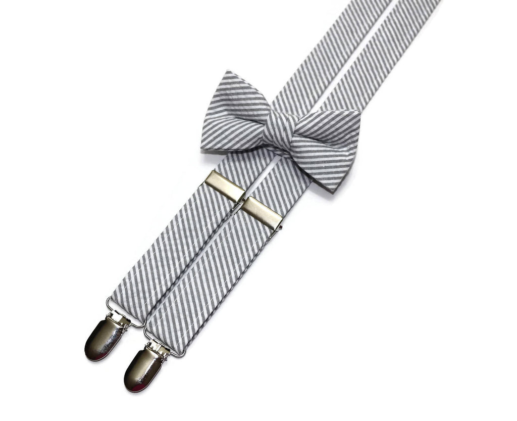ae8dbdb72f4c Boys Gray Seersucker Suspenders – HoBo Ties