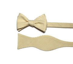 Yellow Seersucker Cummerbund & Bow Tie
