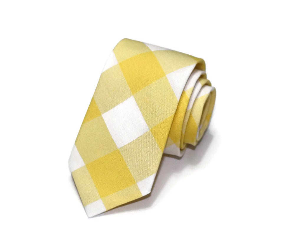 Yellow Buffalo Plaid Necktie - Youth