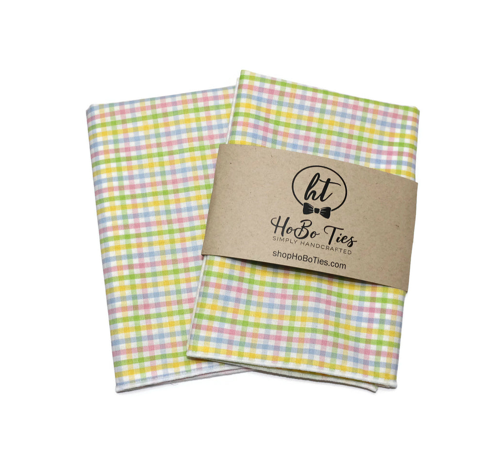 Easter Tattersall Check Pocket Square (Mens)