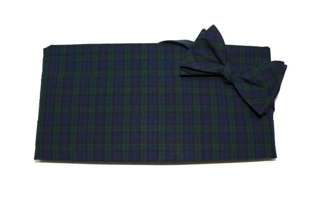 Black Watch Tartan Plaid Cummerbund & Bow Tie