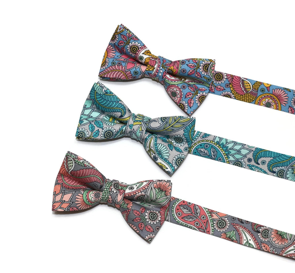 Paisley & Floral Bow Tie - Boys