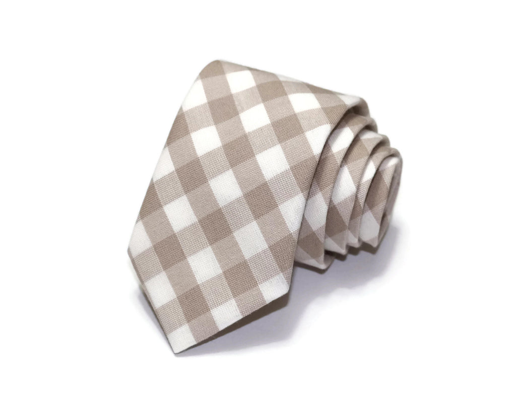 Doeskin Gingham Check Necktie