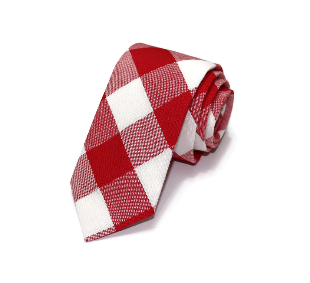 Red Buffalo Plaid Necktie - Youth
