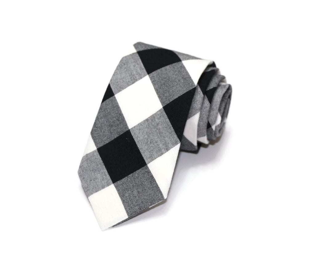 Black Buffalo Plaid Necktie