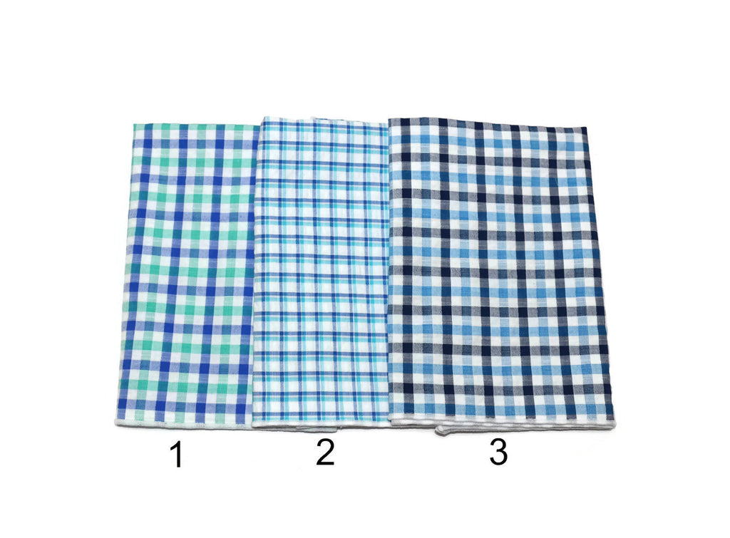 Seersucker Plaid Pocket Square (Boys)