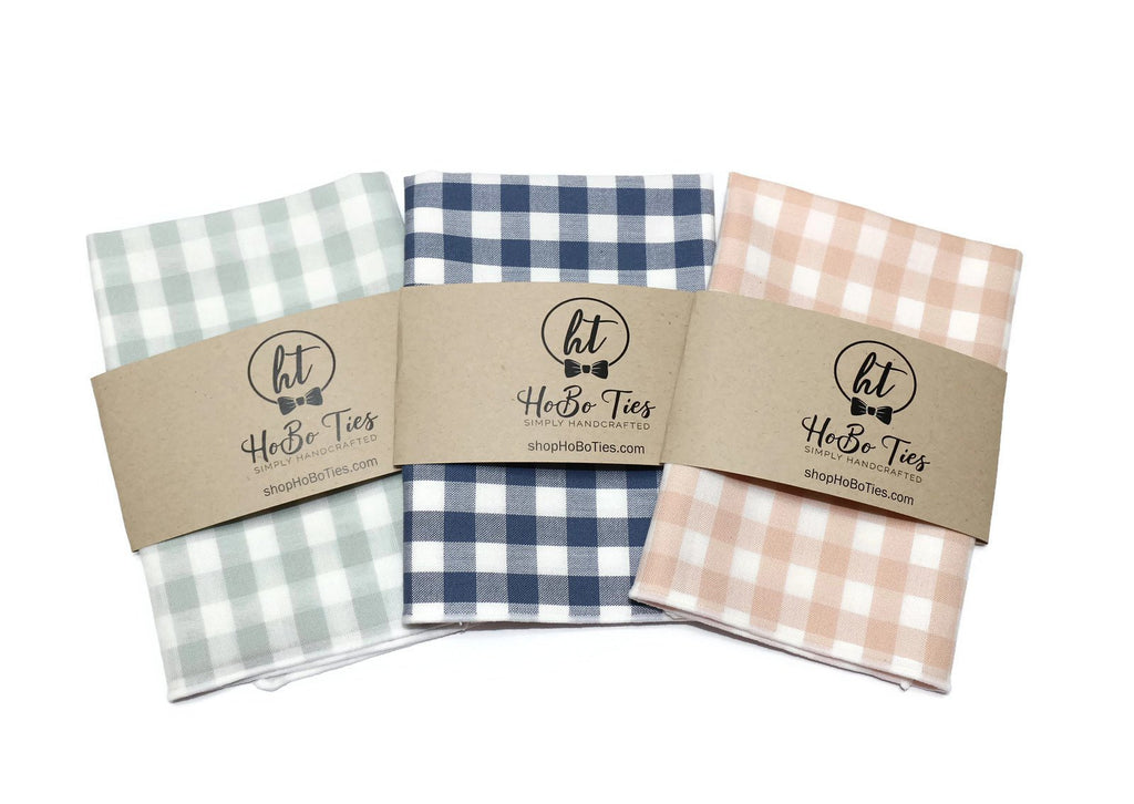 Gingham Check Pocket Square (Boys)