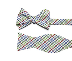 Red, Blue & Green Tattersall Bow Tie