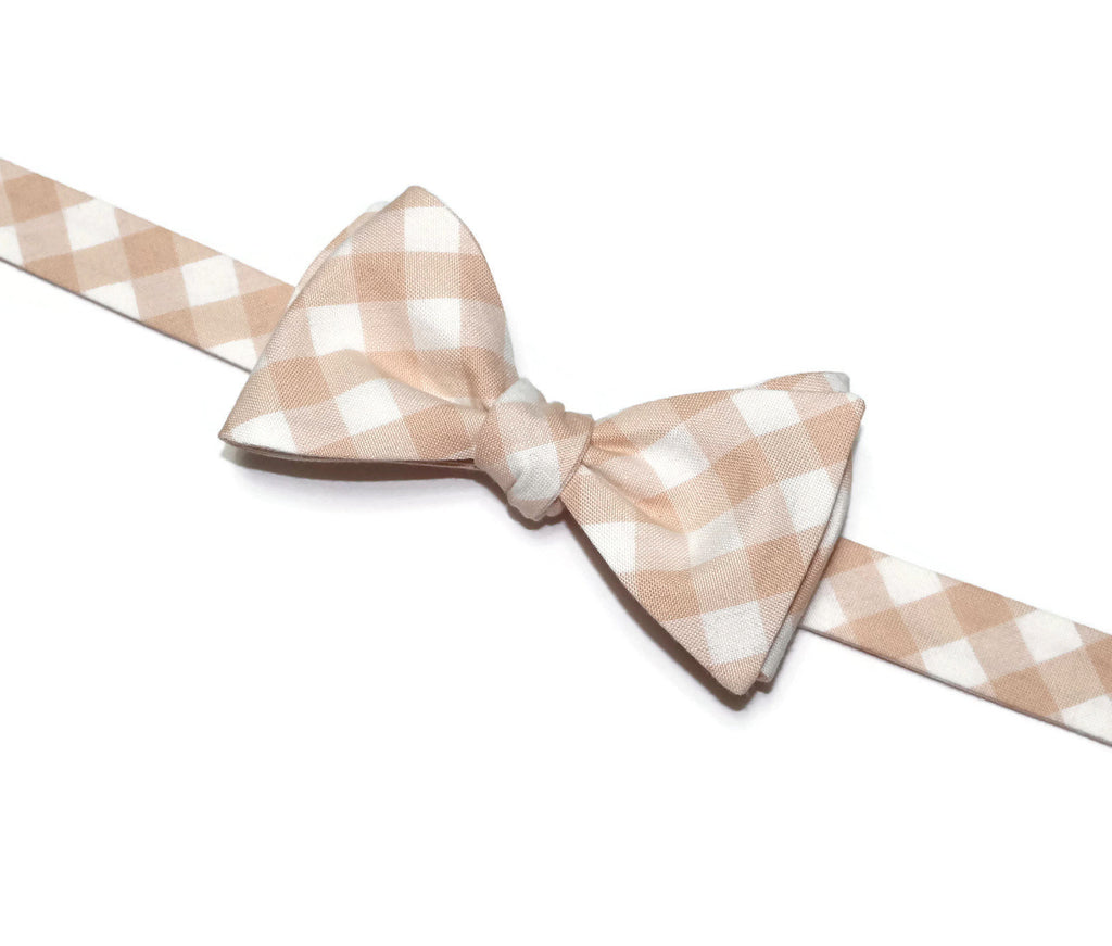 Lingerie Gingham Check Bow Tie