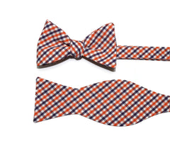 Orange & Purple Tattersall Cummerbund & Bow Tie