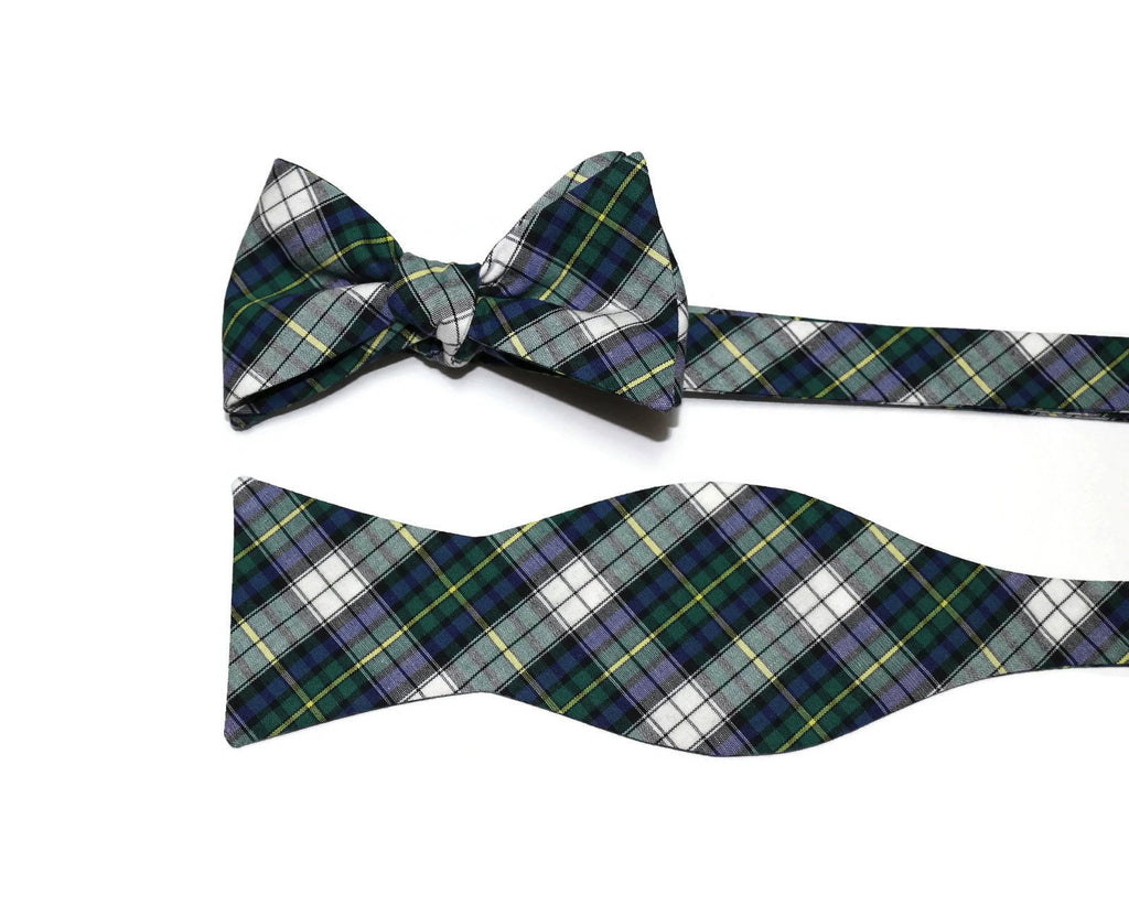 Kelly Green & Blue Tartan Plaid Cummerbund & Bow Tie
