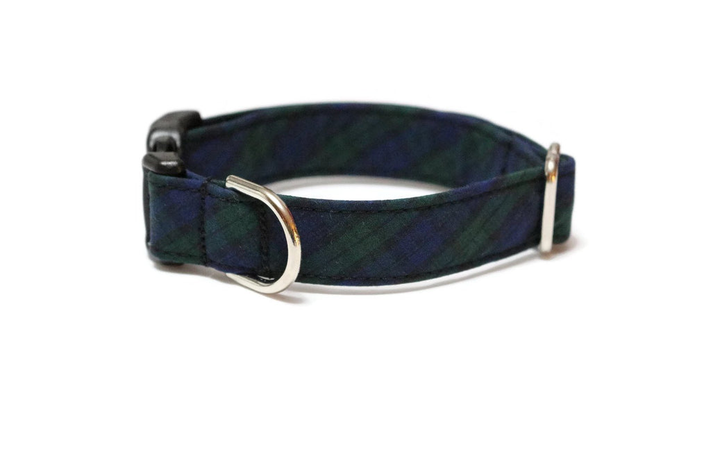 Black Watch Tartan Plaid Dog Collar