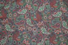 Blush & Gray Paisley Floral Pocket Square (Mens)