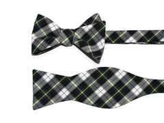 Navy & Green Tartan Plaid Bow Tie