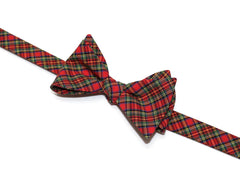 Red & Green Tartan Plaid Bow Tie