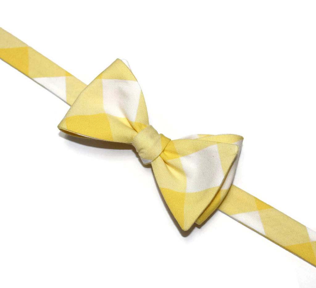 Yellow Buffalo Plaid Bow Tie
