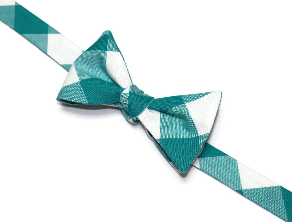 Jade Buffalo Plaid Bow Tie