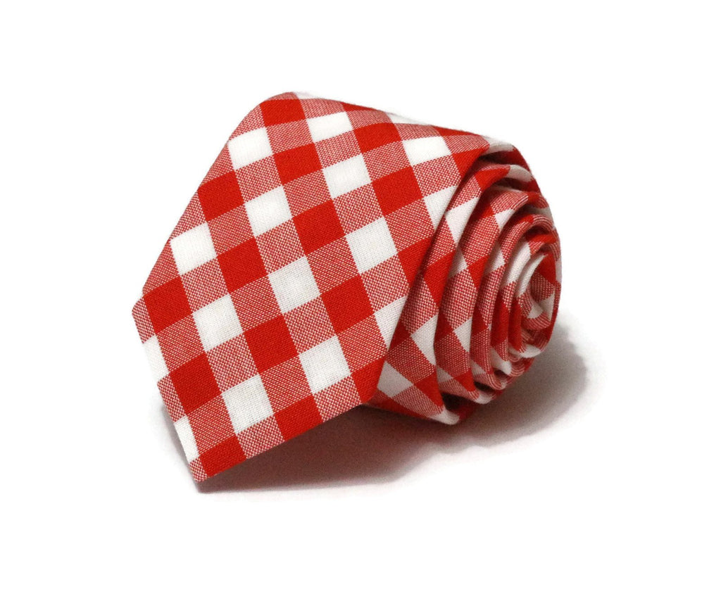 Flame Gingham Check Necktie