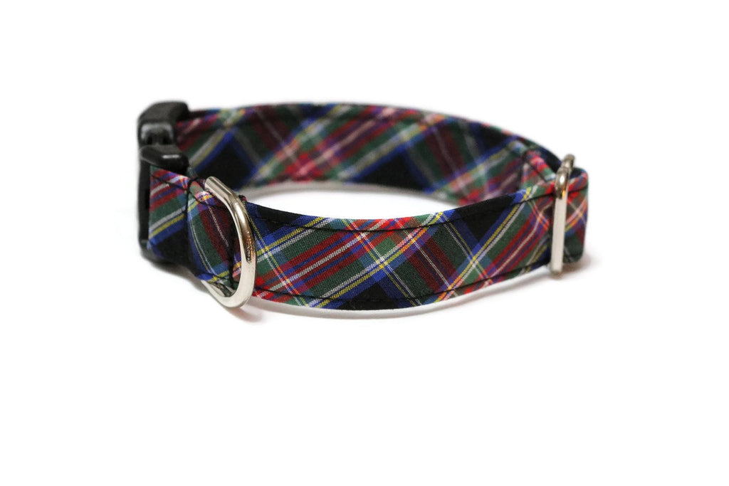 Black & Red Tartan Plaid Dog Collar
