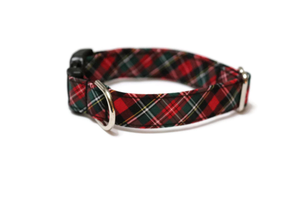 Hunter & Red Tartan Plaid Dog Collar