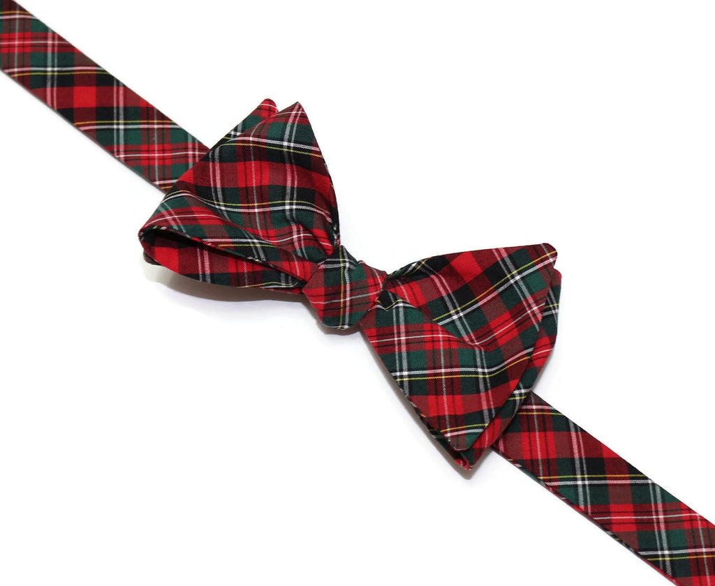 Hunter & Red Tartan Plaid Bow Tie