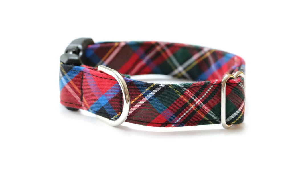 Carolina Tartan Plaid Dog Collar