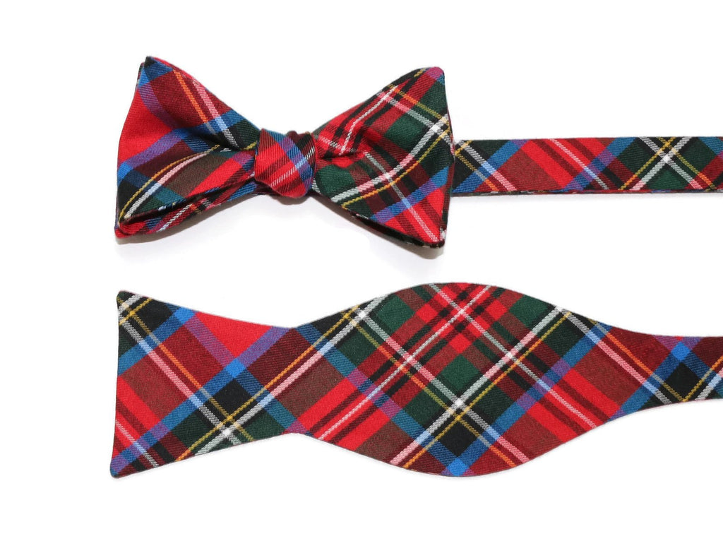 Carolina Tartan Plaid Bow Tie