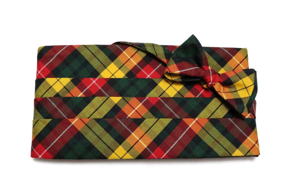 Buchanan Tartan Plaid Cummerbund & Bow Tie