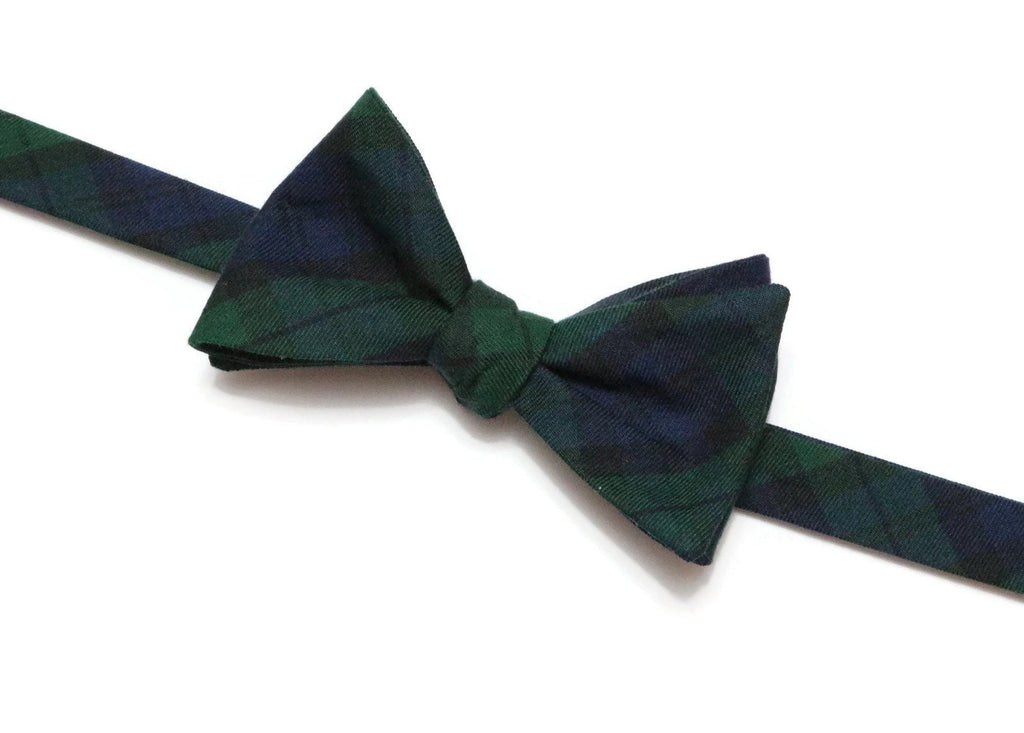 Black Watch Tartan Plaid Bow Tie