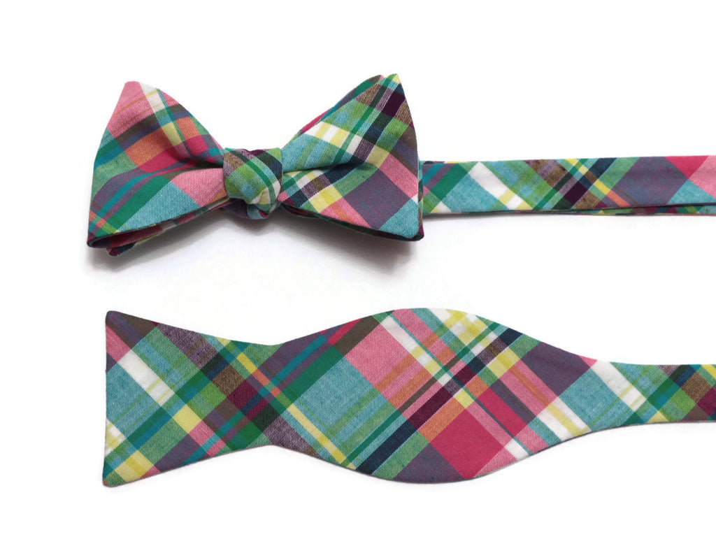 Easter Madras Plaid Cummerbund & Bow Tie