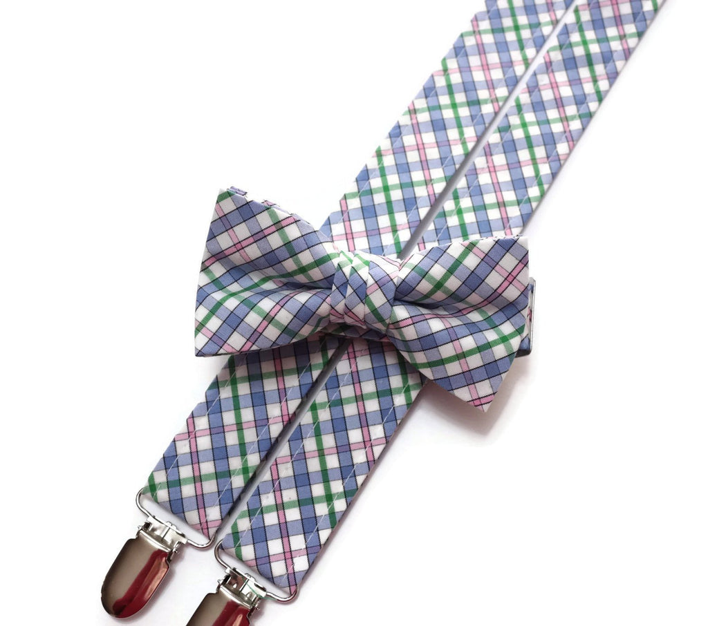 ad2fff63b98f HoBo Ties | Boys Easter Plaid Suspenders