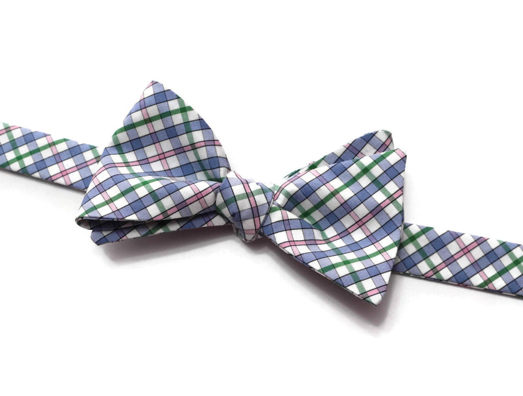 Easter Plaid Bow Tie