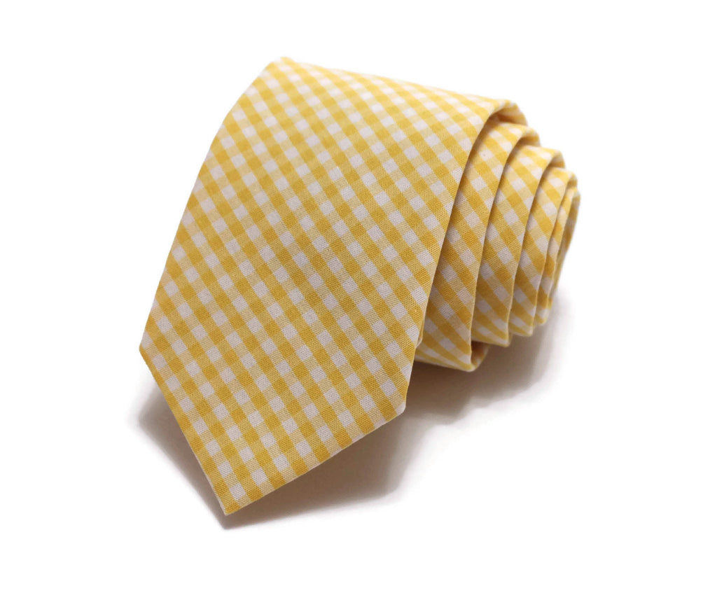 Yellow Gingham Check Necktie