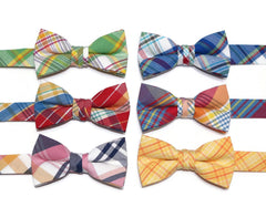 Newport Plaid Bow Tie - Boys