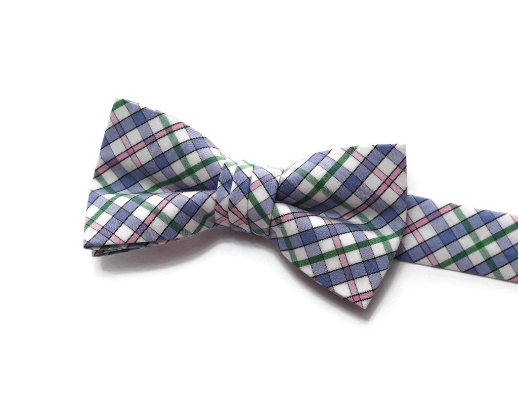 Easter Plaid Bow Tie - Boys
