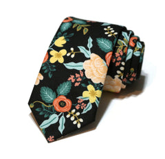 Black Birch Floral Necktie